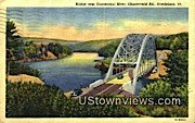 Bridge, Connecticut River - Brattleboro, Vermont VT Postcard