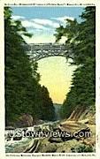 Quechee Gulf & Bridge - Rutland, Vermont VT Postcard