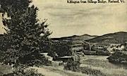 Billings Bridge - Rutland, Vermont VT Postcard