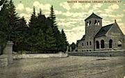 Baxter Memorial Library - Rutland, Vermont VT Postcard