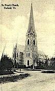 St. Peter's Church - Rutland, Vermont VT Postcard