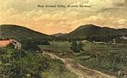West Rutland Valley - Vermont VT Postcard