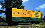 Rutland R. R. - Vermont VT Postcard