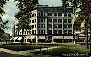 Mead Block - Rutland, Vermont VT Postcard