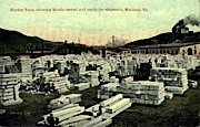 Marble Yard - Rutland, Vermont VT Postcard