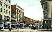 Center Street - Rutland, Vermont VT Postcard