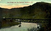 Iron Bridge - Readsboro, Vermont VT Postcard