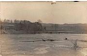 Footbridge Submerged - Rumerston, Vermont VT Postcard