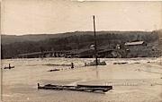 High Water at Dam - Rumerston, Vermont VT Postcard