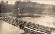 Log Bridge - Rumerston, Vermont VT Postcard