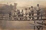 Wood Bridge - Rumerston, Vermont VT Postcard