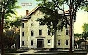 High School - Vergennes, Vermont VT Postcard