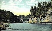 Winooski Gorge - Vermont VT Postcard