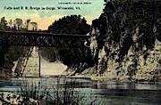 Railroad bridge - Winooski, Vermont VT Postcard