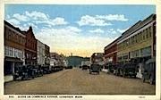 Commerce Avenue - Longview, Washington WA Postcard