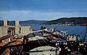 Port - Longview, Washington WA Postcard