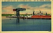 Hammer Head Crane - Bremerton, Washington WA Postcard