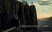 Cape Horn Tunnel - North Bank Road, Washington WA Postcard