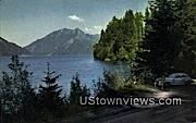 Lake Crescent, WA     ;     Lake Crescent, Washington Postcard