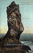 Sentinel Rock - Cape Johnson, Washington WA Postcard