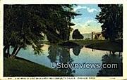 Lake Sacajawea & Community Church - Longview, Washington WA Postcard