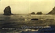 Real Photo - Sugar Loaf Rock - Needles North Beach, Washington WA Postcard