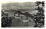 Real Photo - Interstate Bridge - Longview, Washington WA Postcard