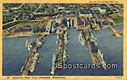 Bremerton Navy Yard - Washington WA Postcard