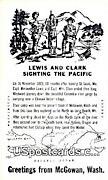 Lewis & Clark - McGowan, Washington WA Postcard