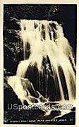 Real Photo - Peabody Falls - Port Angeles, Washington WA Postcard