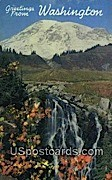 Mt Rainier - Myrtle Falls, Washington WA Postcard