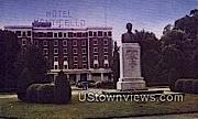 Hotel Monticello, RA Long Memorial - Longview, Washington WA Postcard