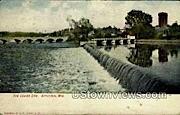 The Lower Dam - Appleton, Wisconsin WI Postcard