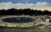 Swimming Pool at Erbs Park - Appleton, Wisconsin WI Postcard