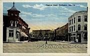 Chestnut Street - Burlington, Wisconsin WI Postcard