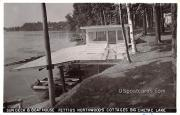 Sun Deck and Boat House - Big Chetac Lake, Wisconsin WI Postcard