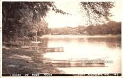Scene on Rock River - Fort Atkinson, Wisconsin WI Postcard