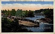The Rapids at Keshena Falls - Wisconsin WI Postcard