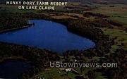 Hunky Dory Farm Resort - Lake Claire, Wisconsin WI Postcard