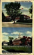 Neenah High School - Wisconsin WI Postcard
