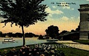 Library Park - Neenah, Wisconsin WI Postcard