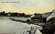Dam At Neenah - Wisconsin WI Postcard