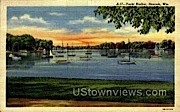 Yacht Harbor - Neenah, Wisconsin WI Postcard