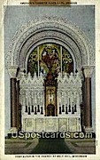 Church Altar - Holy Hill, Wisconsin WI Postcard