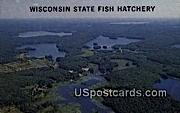Fish Hatchery - Vitae Lake, Wisconsin WI Postcard