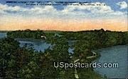 Browns Lake - Burlington, Wisconsin WI Postcard