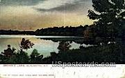 Brown's Lake - Burlington, Wisconsin WI Postcard