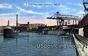 C Reiss Coal Docks - Sheboygan, Wisconsin WI Postcard