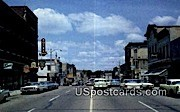 Main Street - Fort Atkinson, Wisconsin WI Postcard