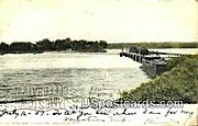 The Dam - Neenah, Wisconsin WI Postcard